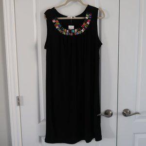 Cleo Sleeveless Dress Black 18  MISSING A BEAD